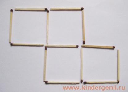 Как из пяти квадратов сделать один 8